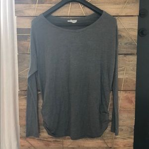 Long sleeve grey maternity shirt